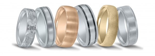 Men's wedding bands available at Diamonds Direct in San Antonio.