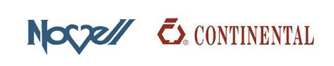 Logos for Continental and Novell