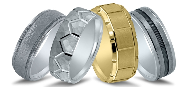Wedding bands for men by Novell