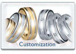 Novell Wedding Band Customization