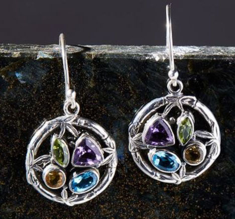 Colored stone earrings by Robert Manse Designs.