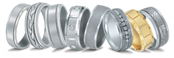 Novell men's wedding bands