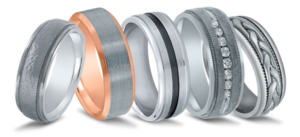 Men's wedding bands available at Diamonds Direct in Indianapolis.