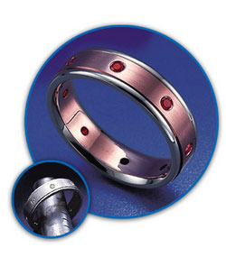 Customize your wedding bands with sapphires.