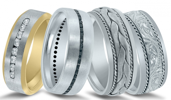 Men's wedding bands available at Diamonds Direct in Austin, TX.