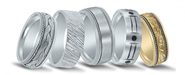 Men's wedding bands available at Diamonds Direct in Dallas, TX.