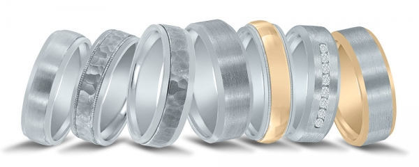 Men's wedding bands available at Diamonds Direct in Raleigh.