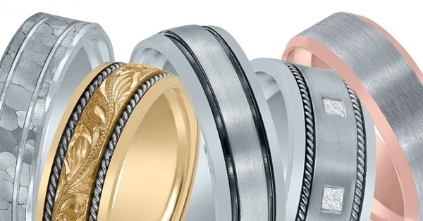 Novell wedding bands - platinum, palladium or gold.