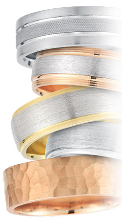 Novell gold wedding bands