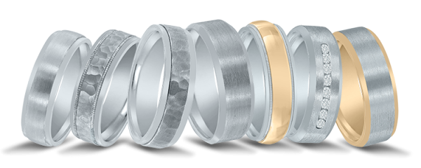 Novell wedding bands - platium-palladium or gold