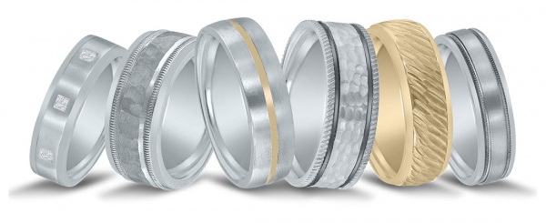 Men's wedding bands available at Diamonds Direct in Richmond.