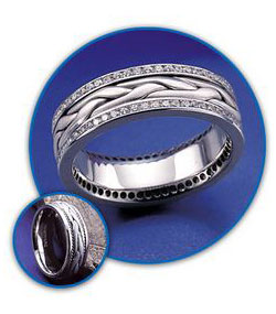 More wedding band customization by Novell.