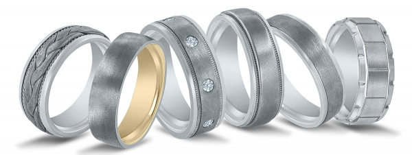 Novell wedding bands available at Steve Quick Jeweler in Chicago.