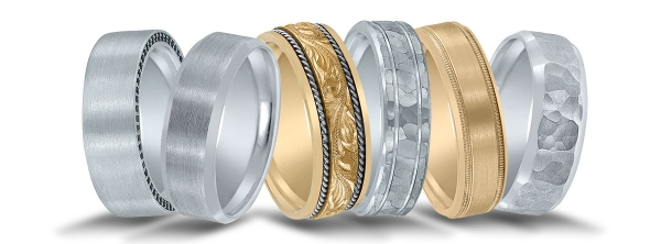 Novell wedding bands at Diamonds Direct.
