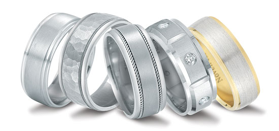 Novell wedding bands at Steve Quick