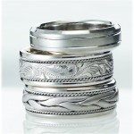 Novell wedding bands can be made wider, narrower, in different metals, and much more.