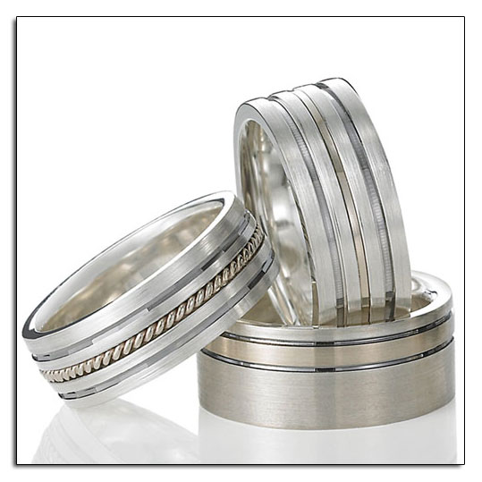 New from Novell - Argentium Sterling Silver wedding bands.