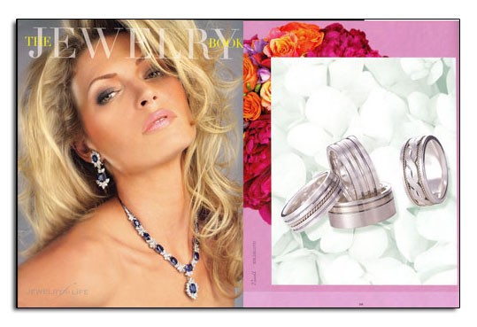 Argentium Sterling Silver wedding bands as featured in The Jewelry Book.
