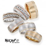 Big and bold wedding bands by Novell.