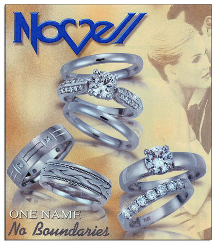 Popular and classic wedding band designs by Novell.