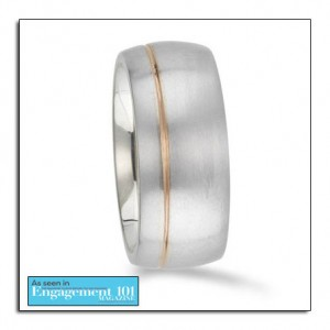 Gold wedding band from Novell's Max Squared Collection.