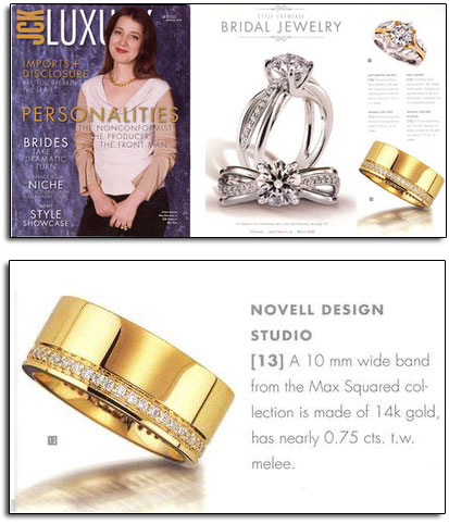 Max Squared wedding band featured in JCK Luxury.
