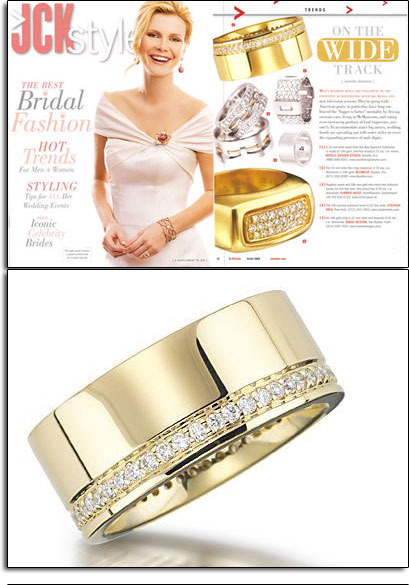 Max Squared wedding band featured in JCK Style.