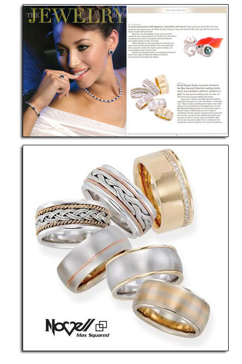 Max Squared wedding bands as featured in The Jewelry Book.