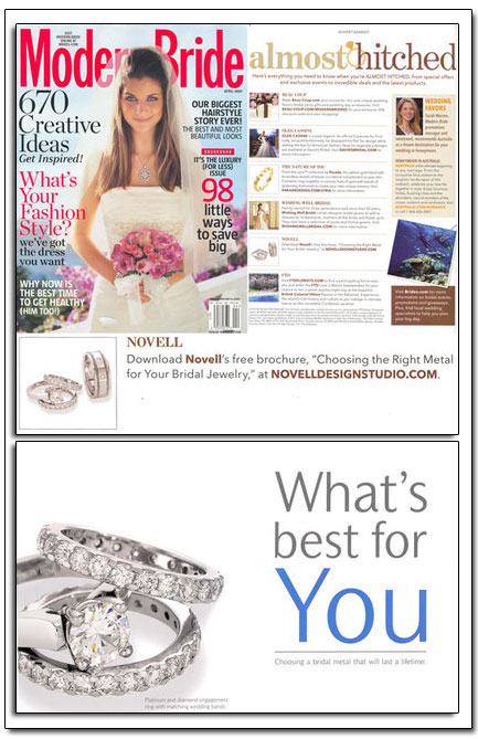"""Choosing the Right Metal for Your Bridal Jewelry"" - a free brochure."