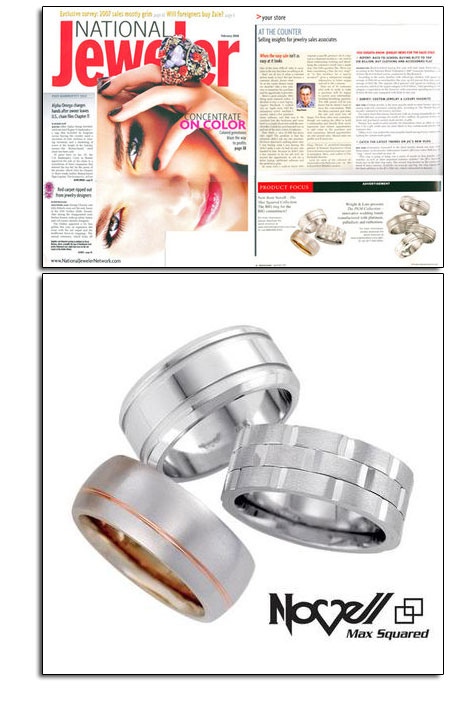 Max Squared wedding bands in National Jeweler.