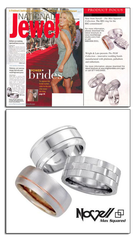Max Squared wedding bands in National Jeweler. The big and bold wedding band for the bold man.