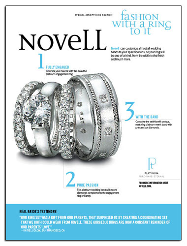 Classic platinum wedding bands from Novell.