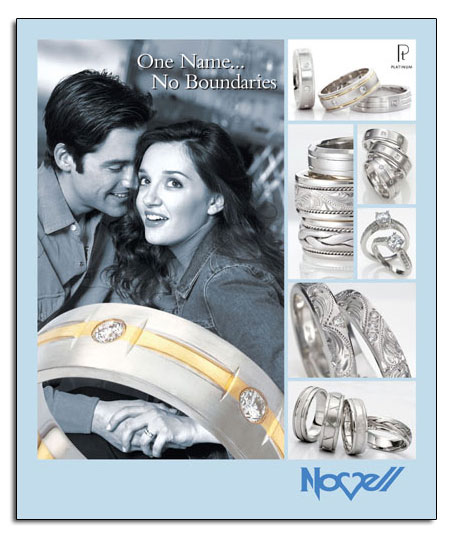 Novell wedding bands can be made wider, narrower, in different metals and more.