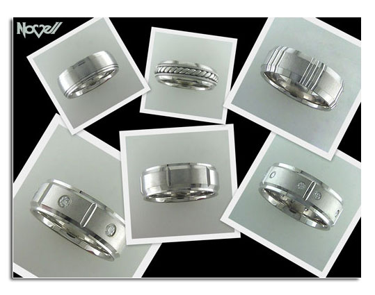 New palladium wedding bands by Novell.
