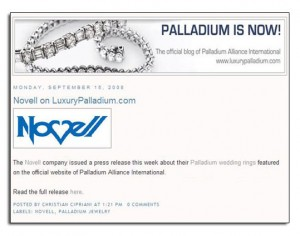 Palladium wedding bands as featured on a blog about palladium.