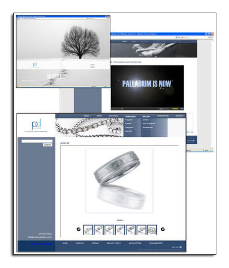 Novell was featured on a new website for palladium jewelry.