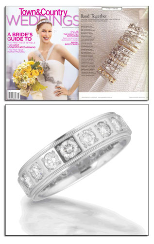 Novell platinum wedding band as seen in Town and Country.