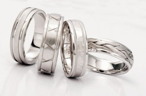 Platinum wedding bands by Novell.