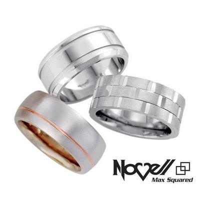 Max Squared wedding bands by Novell.