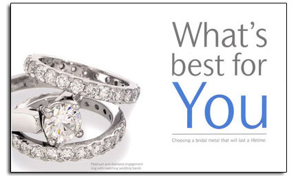 Novell's free brochure to help you choose the right metal for your wedding bands.