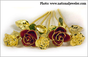 Gold roses from Philadelphia's Steven Singer Jewelers.