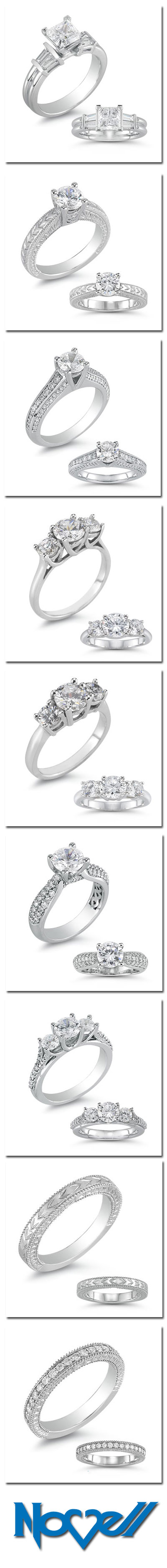 Coming soon from Novell - new engagement rings and ladies' wedding bands.