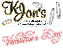 K-Jon's Fine Jewelers Valentine's Day jewelry promotion.