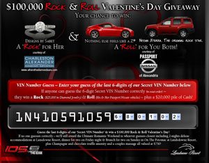 The $100,000 Valentine's Day Giveaway
