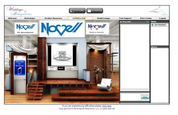 Novell wedding bands featured at an online bridal expo.