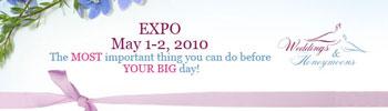 Online bridal expo - May 1 and May 2, 2010.