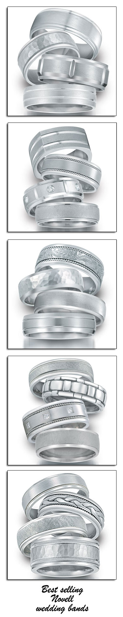 Novell highlights their most popular wedding band styles to retailers at the 2010 JCK Show in Las Vegas.
