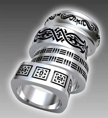 Debuting at the 2010 JCK Show in Las Vegas Novell 39s TATU wedding bands