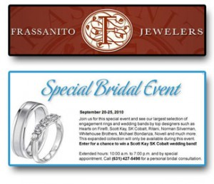 Bridal jewelry event at Frassanito Jewelers.