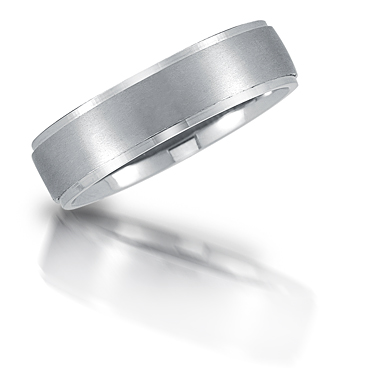 Platinum wedding band by Novell.